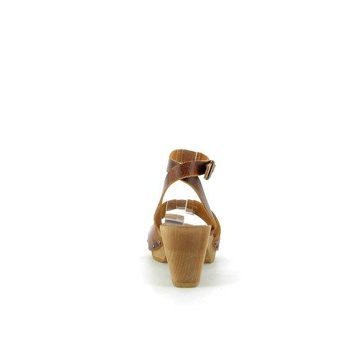 Sanita klompsandalen Yoleen cognac 459357