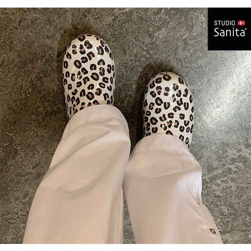 Sanita klompen Flex model 314 Wildlife Leopard wit-nature 8679