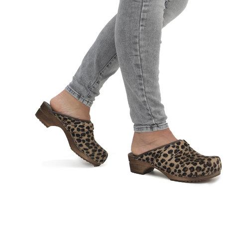 Sanita klompen Caroline leopard 1706199W