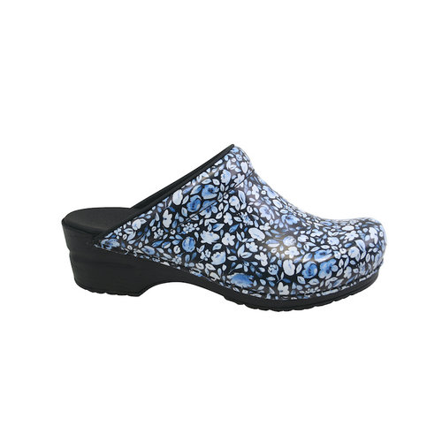 Sanita klompen Isalena zwart/blauw 457618