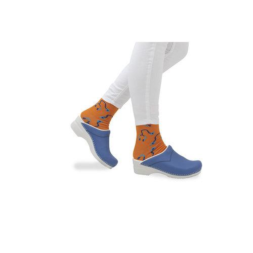Sanita klompen Flex model 314 korenblauw 8100