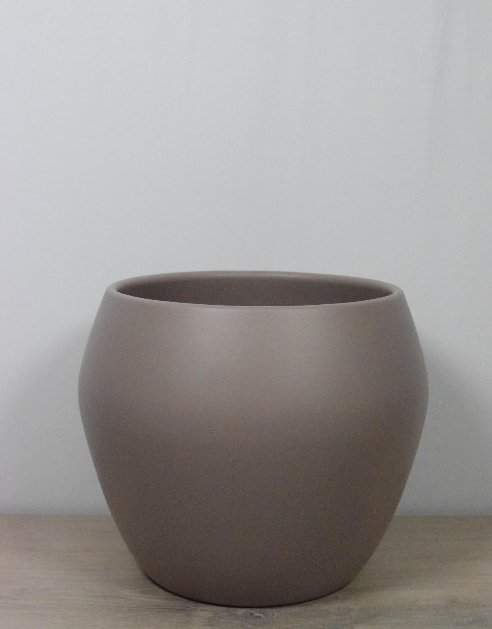 We Love Houseplants Ceramic round taupe pot