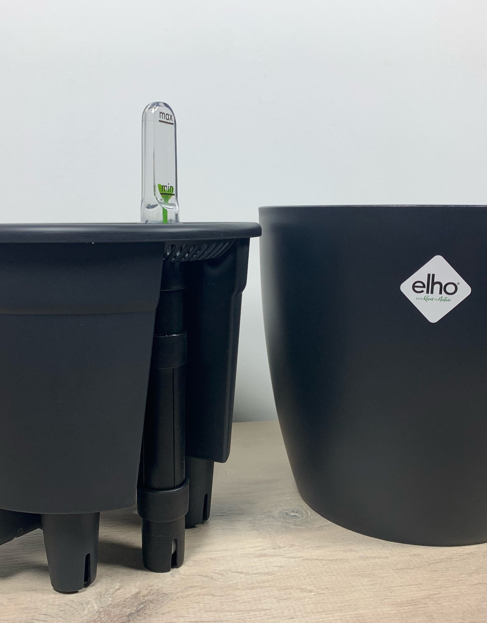 Elho Zelf water gevende pot set (Zwart)