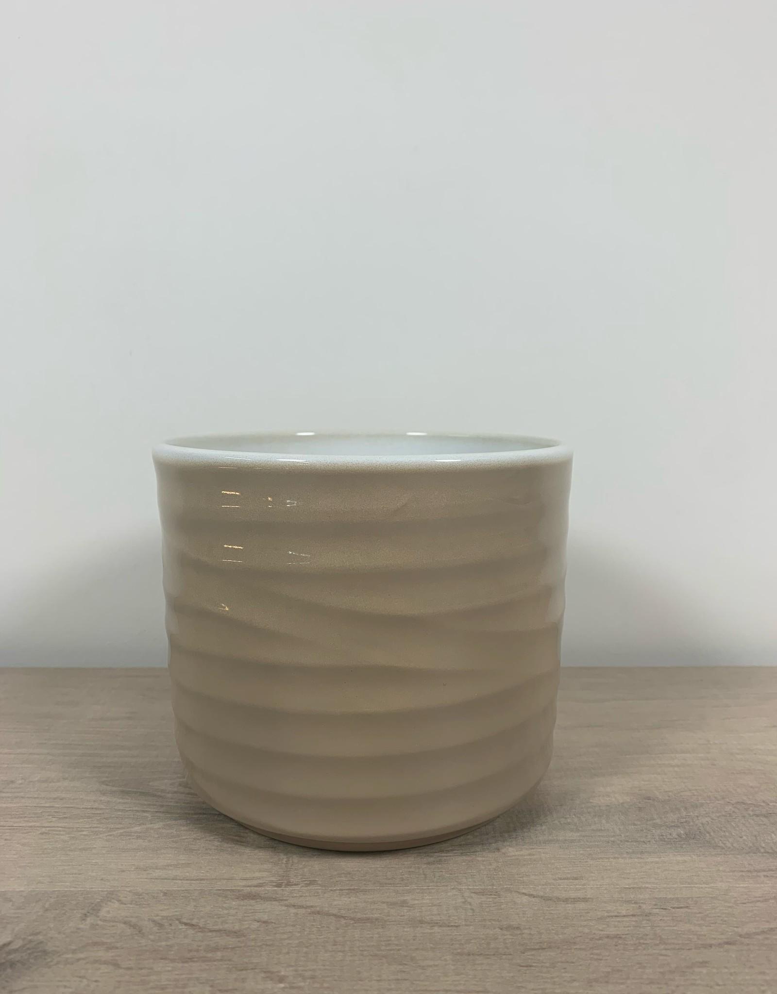We Love Houseplants Cilinder golvende crème pot