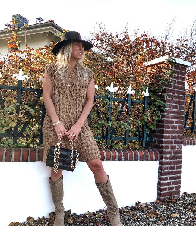 by.AMELLE Spencer Dress Emily Camel