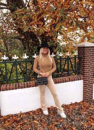 by.AMELLE Flared Pants Liz Beige