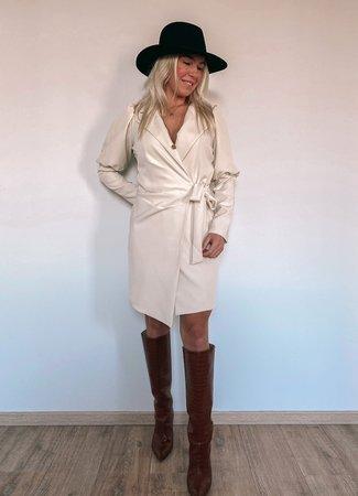 by.AMELLE Blazer Dress Megan Beige