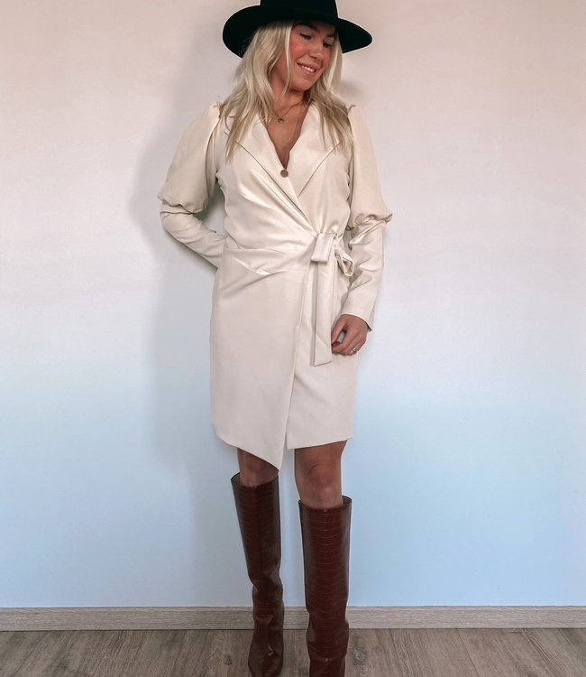 by.AMELLE Blazer Dress Megan Beige