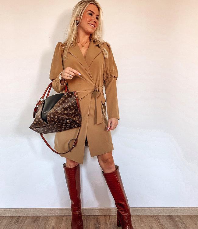 by.AMELLE Blazer Dress Megan Camel