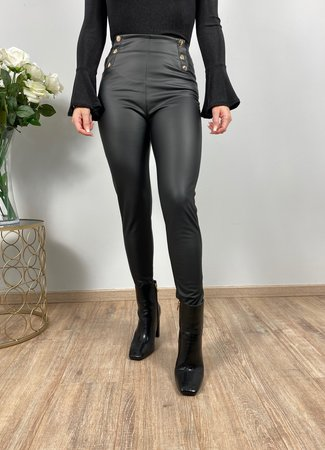by.AMELLE Leatherlook Legging Riley Black