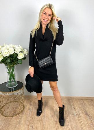 by.AMELLE Sweater Dress Jazzlyn Black