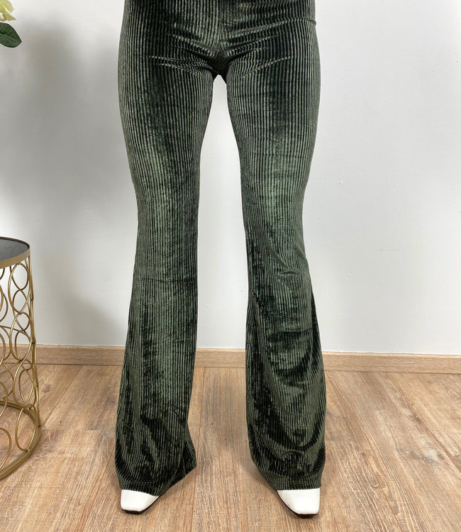 by.AMELLE Flared Pants Lou Khaki