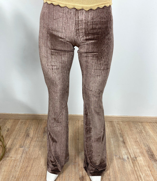 by.AMELLE Flared Pants Lou Taupe