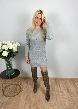 by.AMELLE Sweater Dress Daisy Grey