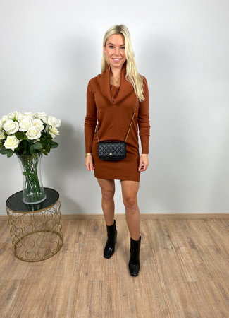 by.AMELLE Sweater Dress Jazzlyn Brown
