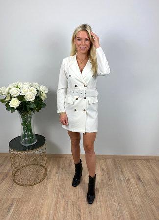 by.AMELLE Blazer Dress Esmay White