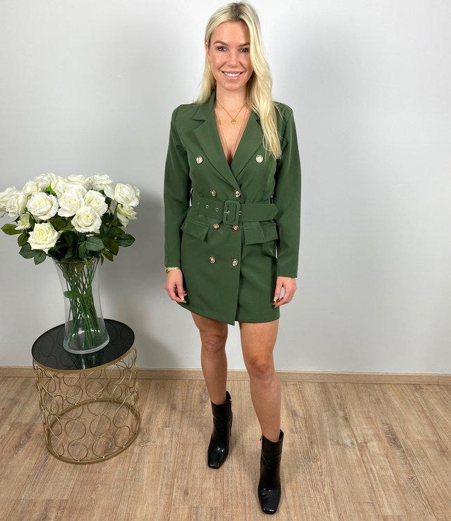 by.AMELLE Blazer Dress Esmay Green