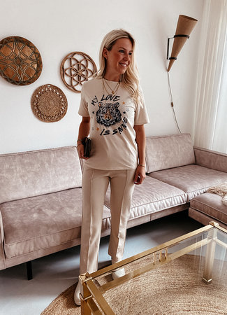 by.AMELLE T-Shirt Savage Beige