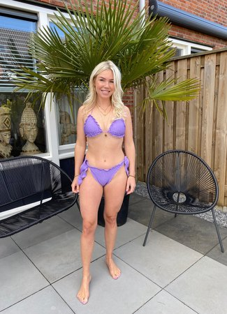 by.AMELLE Bikini Purple Sparkle