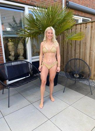by.AMELLE Bikini Gold Sparkle