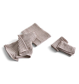 HAY HAY TWIST / DISH CLOTH AND TOWEL 4pcs BURGUNDY