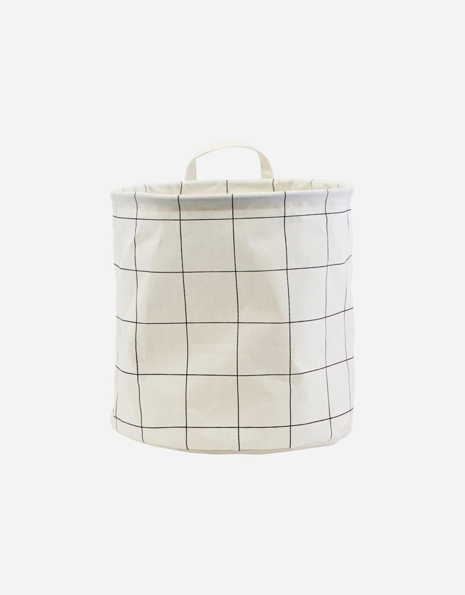 HOUSE DOCTOR HOUSE DOCTOR STORAGE BAG SQUARES WHITE L