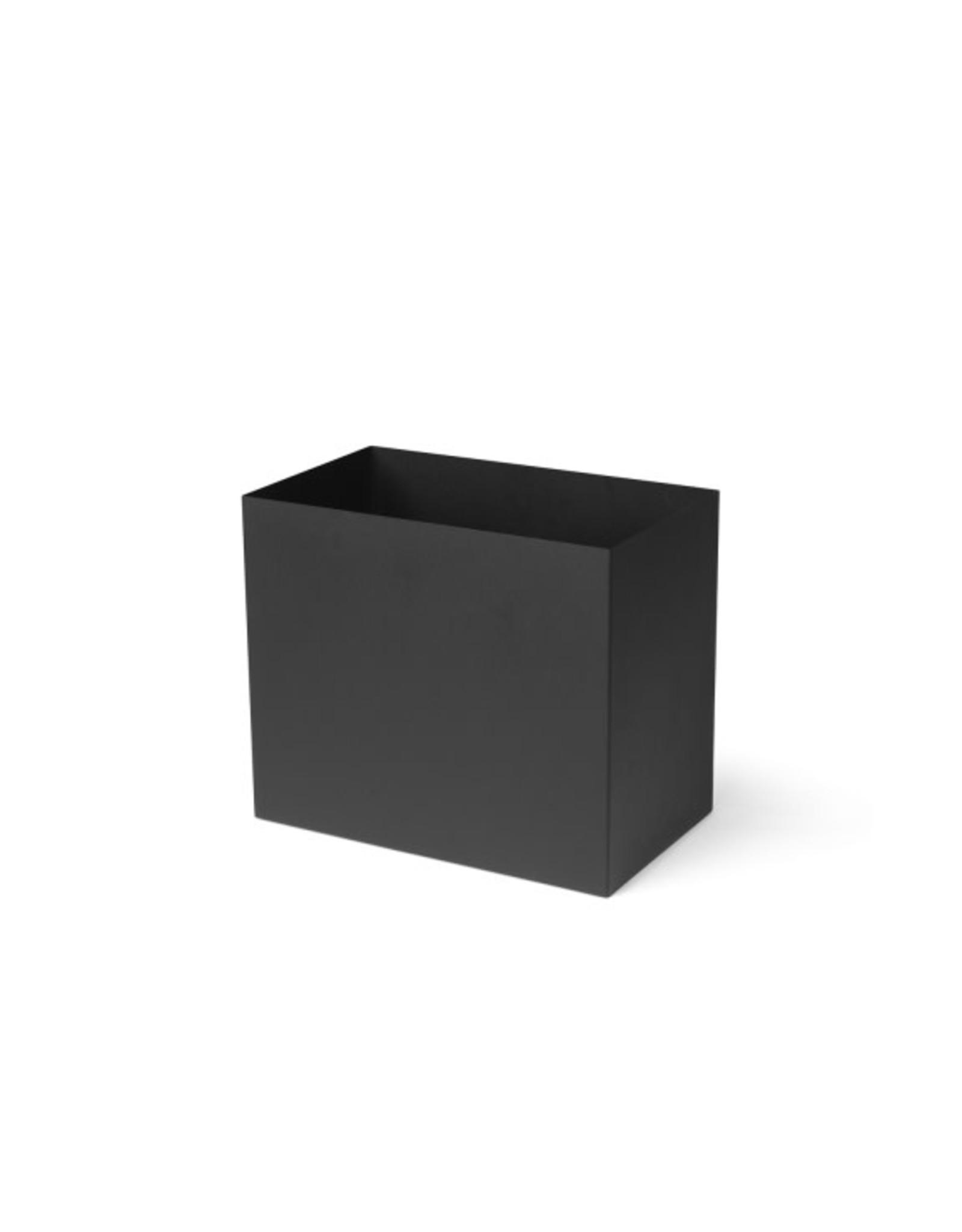 FERM LIVING FERM LIVING Plant Box Pot Large Black