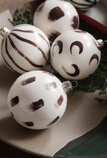 FERM LIVING FERM LIVING Christmas Glass Ornam - Set of 4 - Red Brown