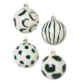 FERM LIVING FERM LIVING Christmas Glass Ornam. - Set of 4 - Green