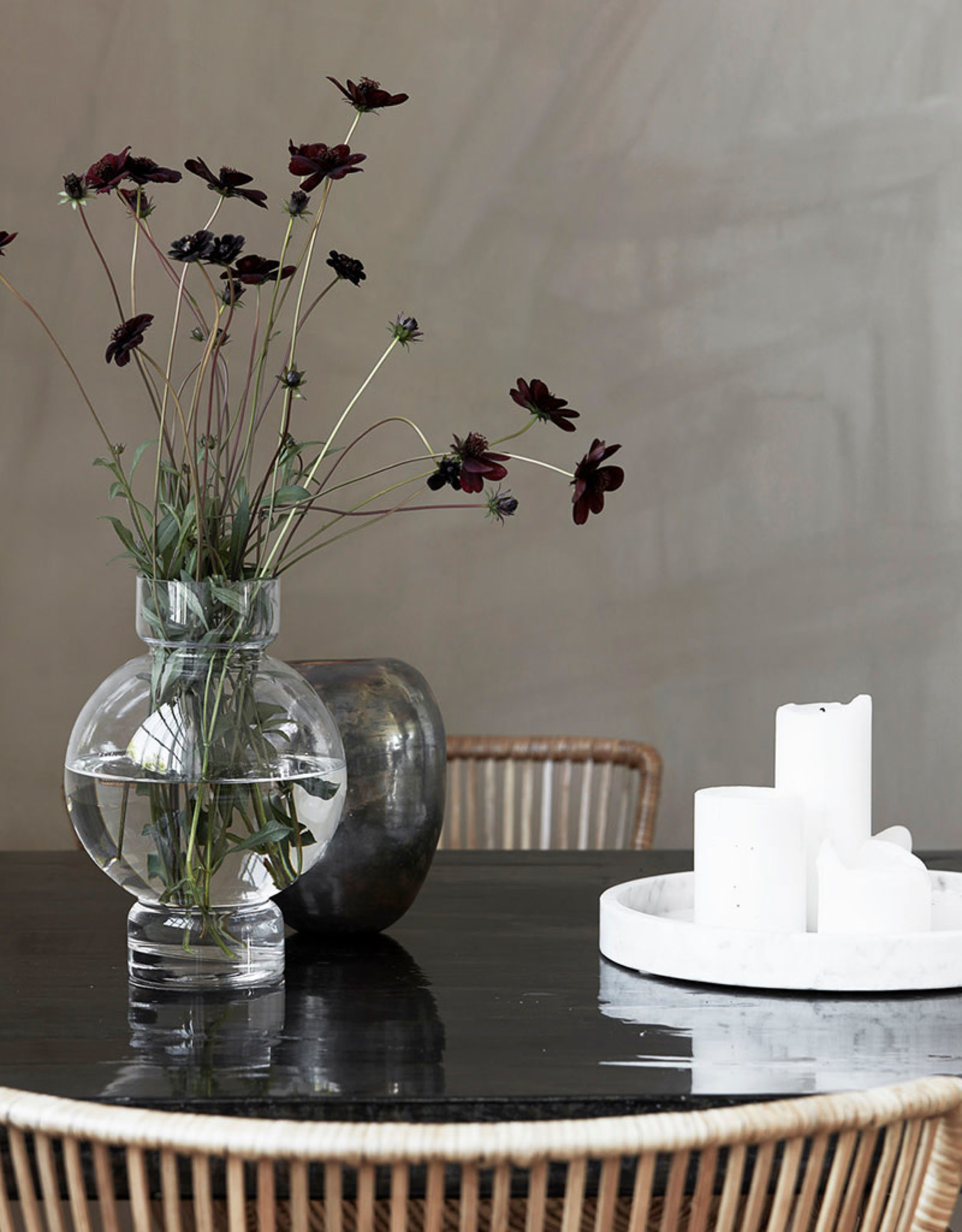 HOUSE DOCTOR HOUSE DOCTOR VASE BUBBLE CLEAR S