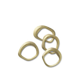 FERM LIVING FERM LIVING Flow Napkin Rings - Set of 4 - Brass