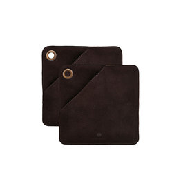 HOUSE DOCTOR HOUSE DOCTOR CIRCLE POT HOLDERS BROWN
