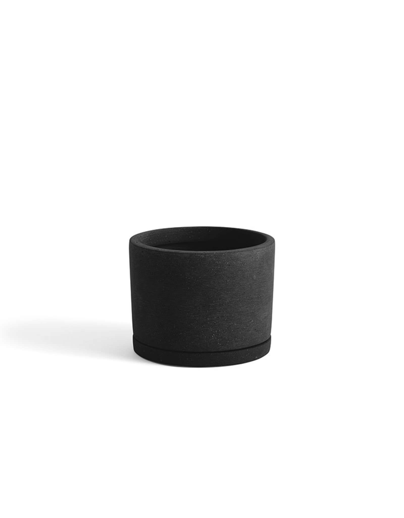 HAY HAY PLANT POT WITH SAUCER L BLACK