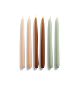 HAY HAY CANDLE CONICAL 6 PCS peach/caramel/mint