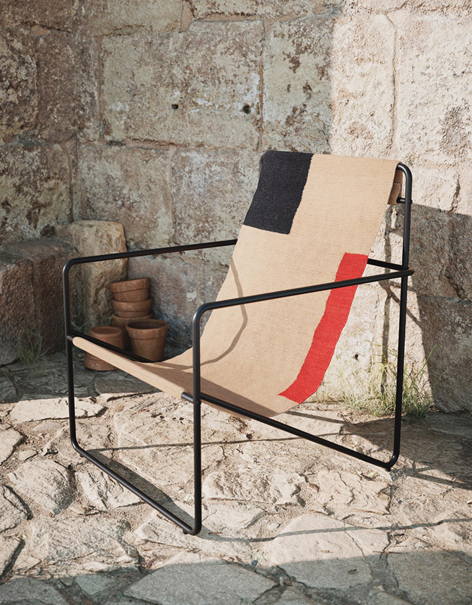 FERM LIVING FERM LIVING Desert Lounge Chair Black/Block