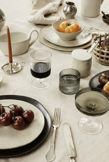 FERM LIVING FERM LIVING Ripple Champagne Saucers - Set of 2 - Smoked Grey
