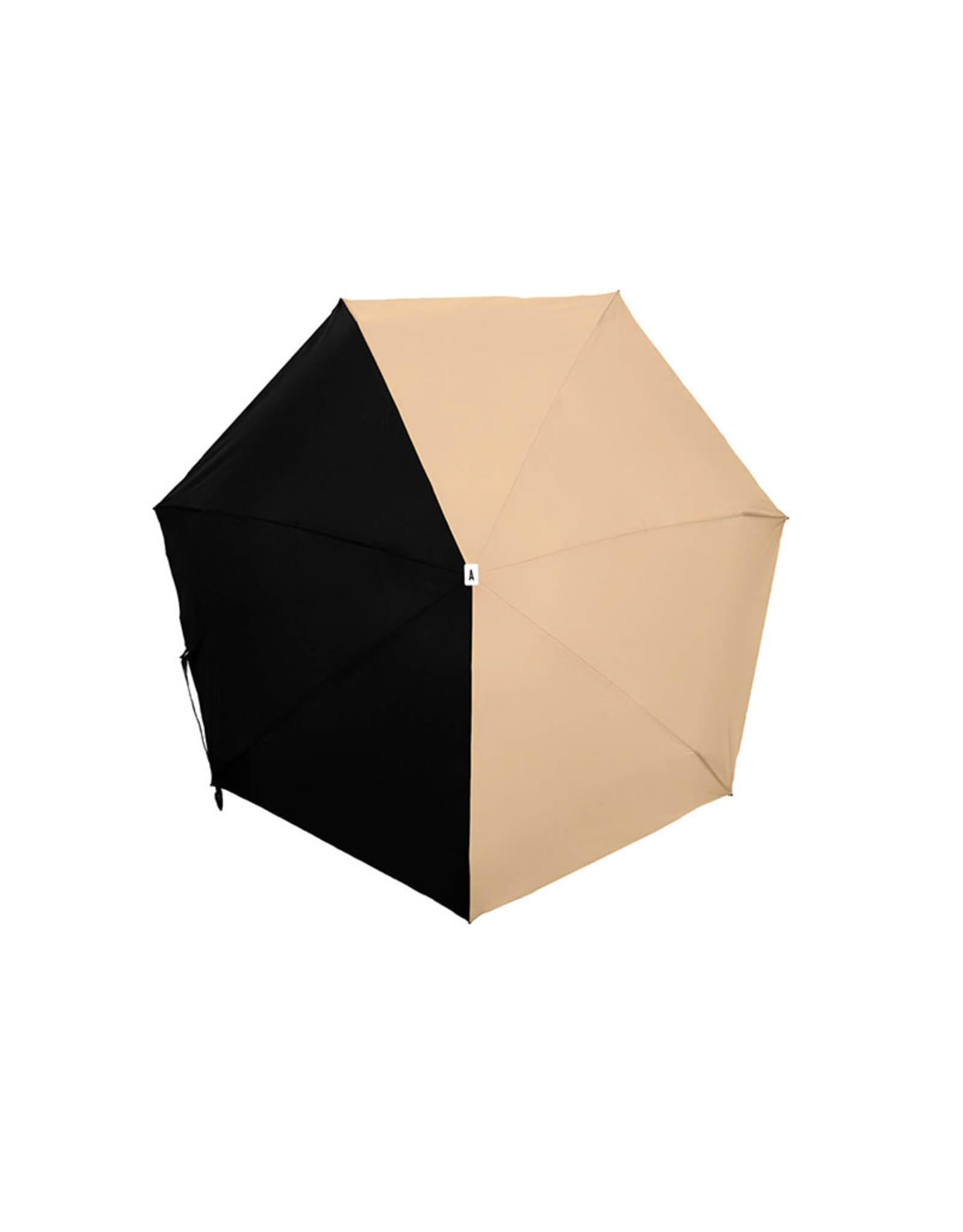 ANATOLE ANATOLE Folding Umbrella - Alice - Beige & Black