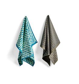 HAY HAY S&B Tea Towel - Marker Diamond No 3 - Set of 2