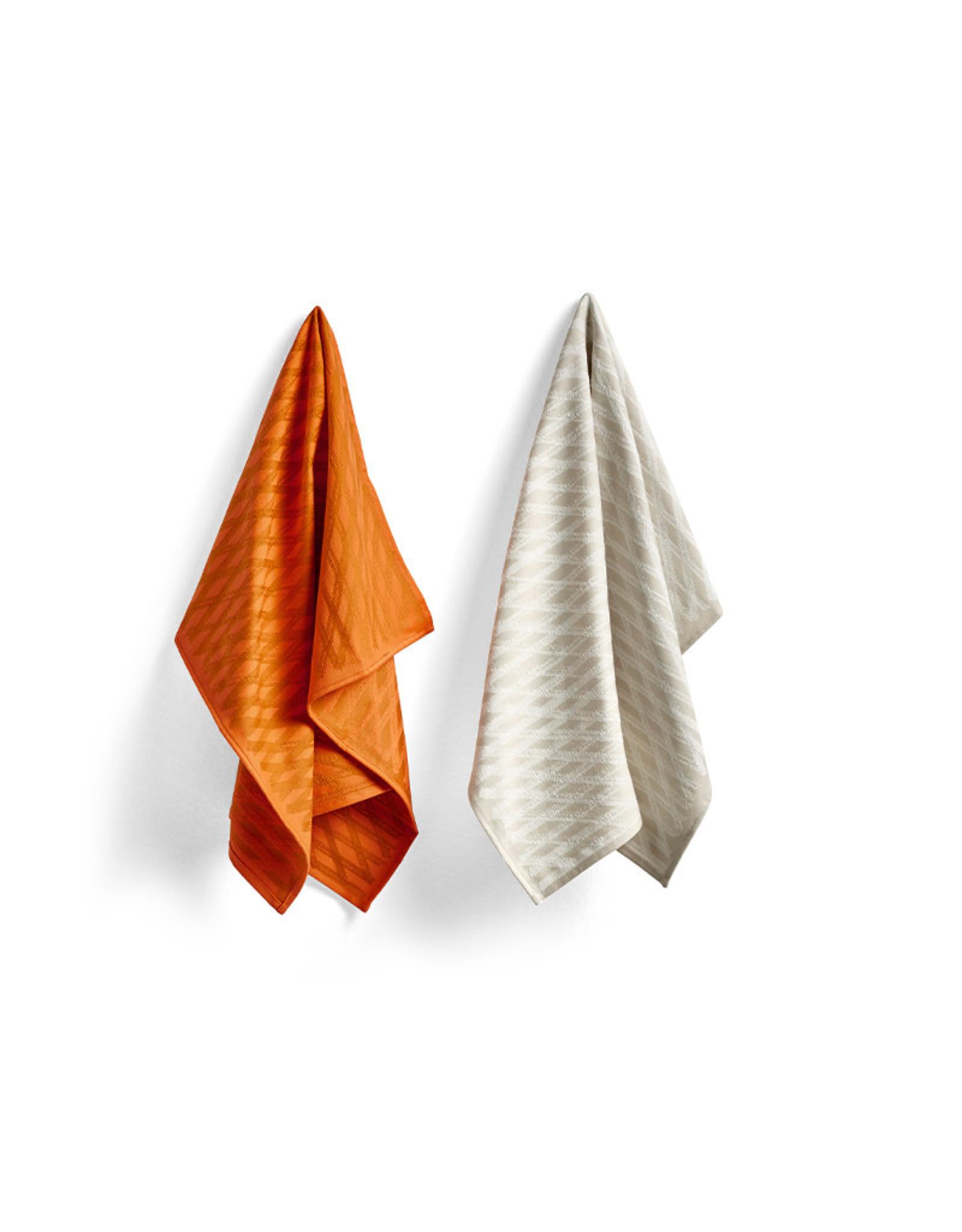 HAY HAY S&B Tea Towel - Marker Diamond No 2 - Set of 2