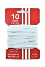 5 m karte elastisch Weiß 6mm