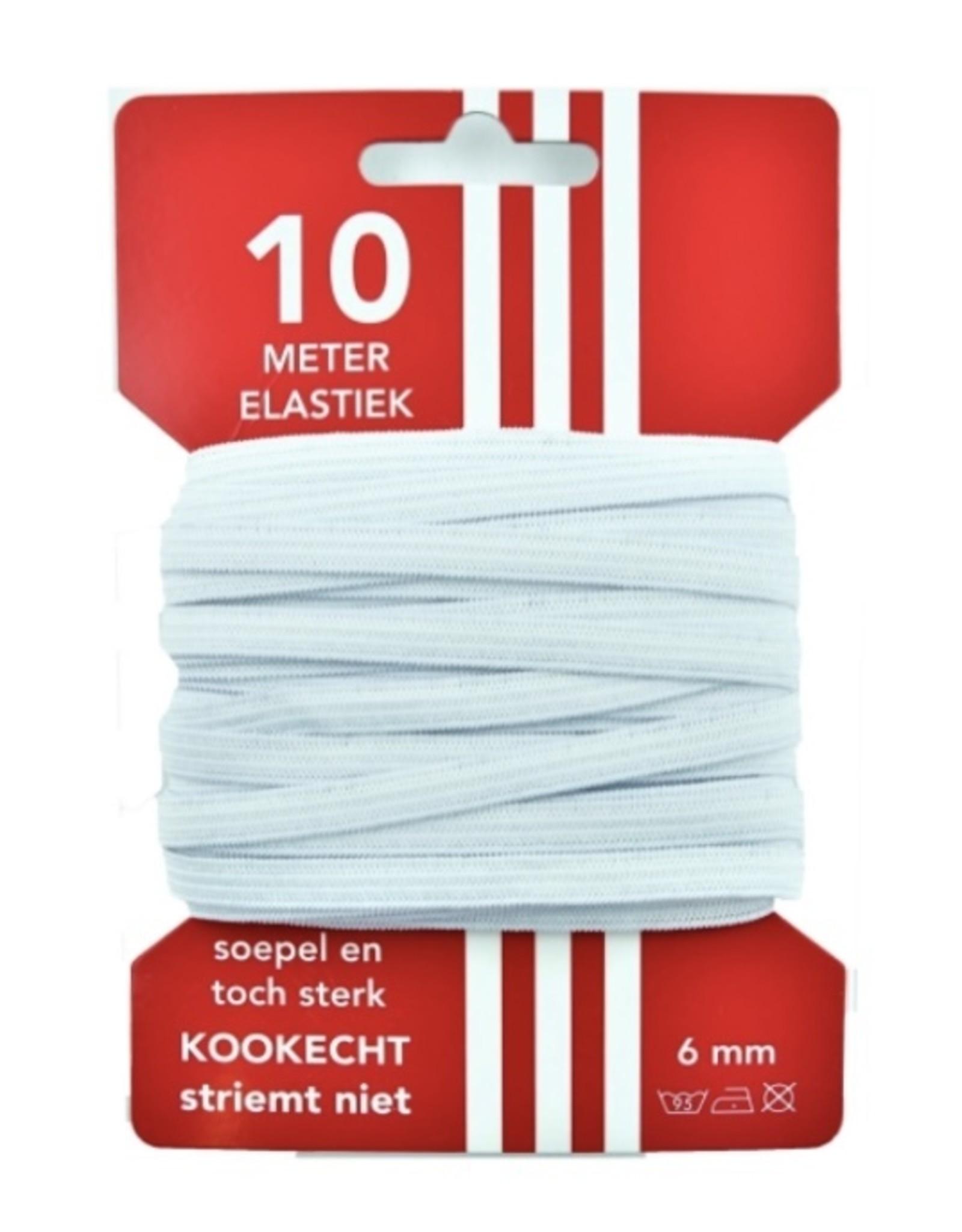 5 m Cart elastic white 6mm