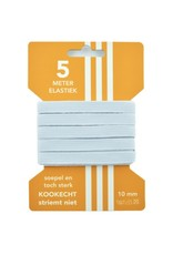5 m kaart elastiek wit 10 mm