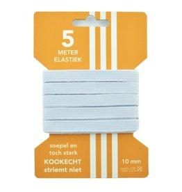 5 m Cart elastic white 10 mm