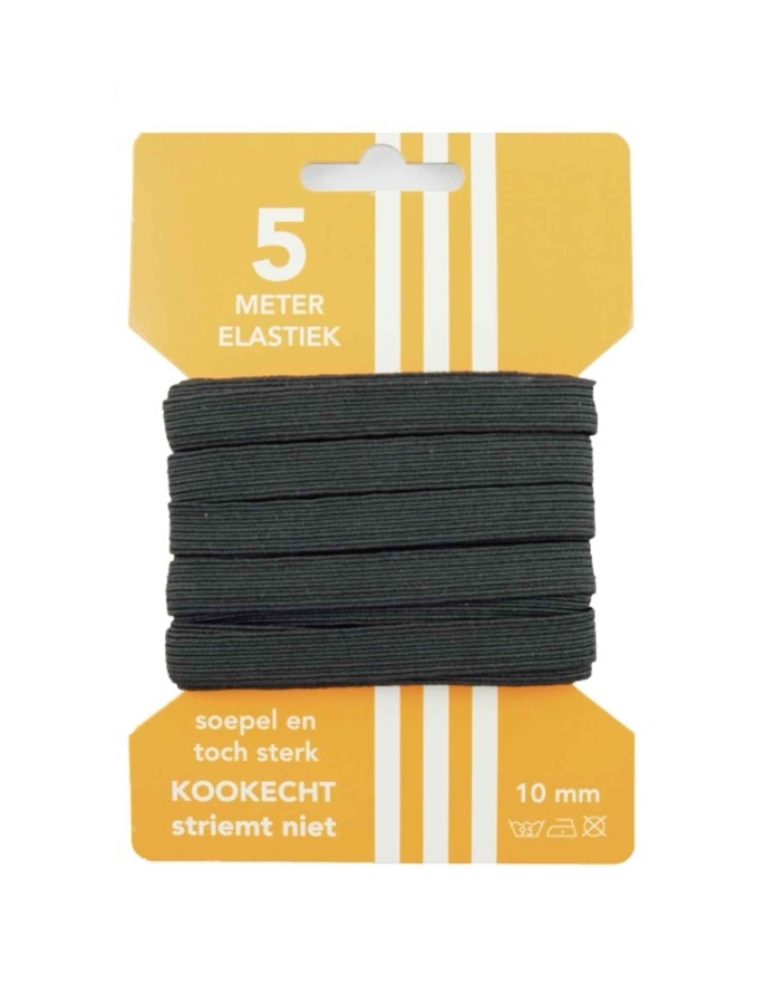 5 m Cart elastic black 10 mm