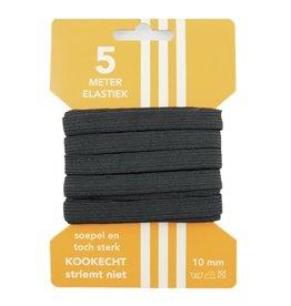 5 m karte elastisch schwarz 10 mm