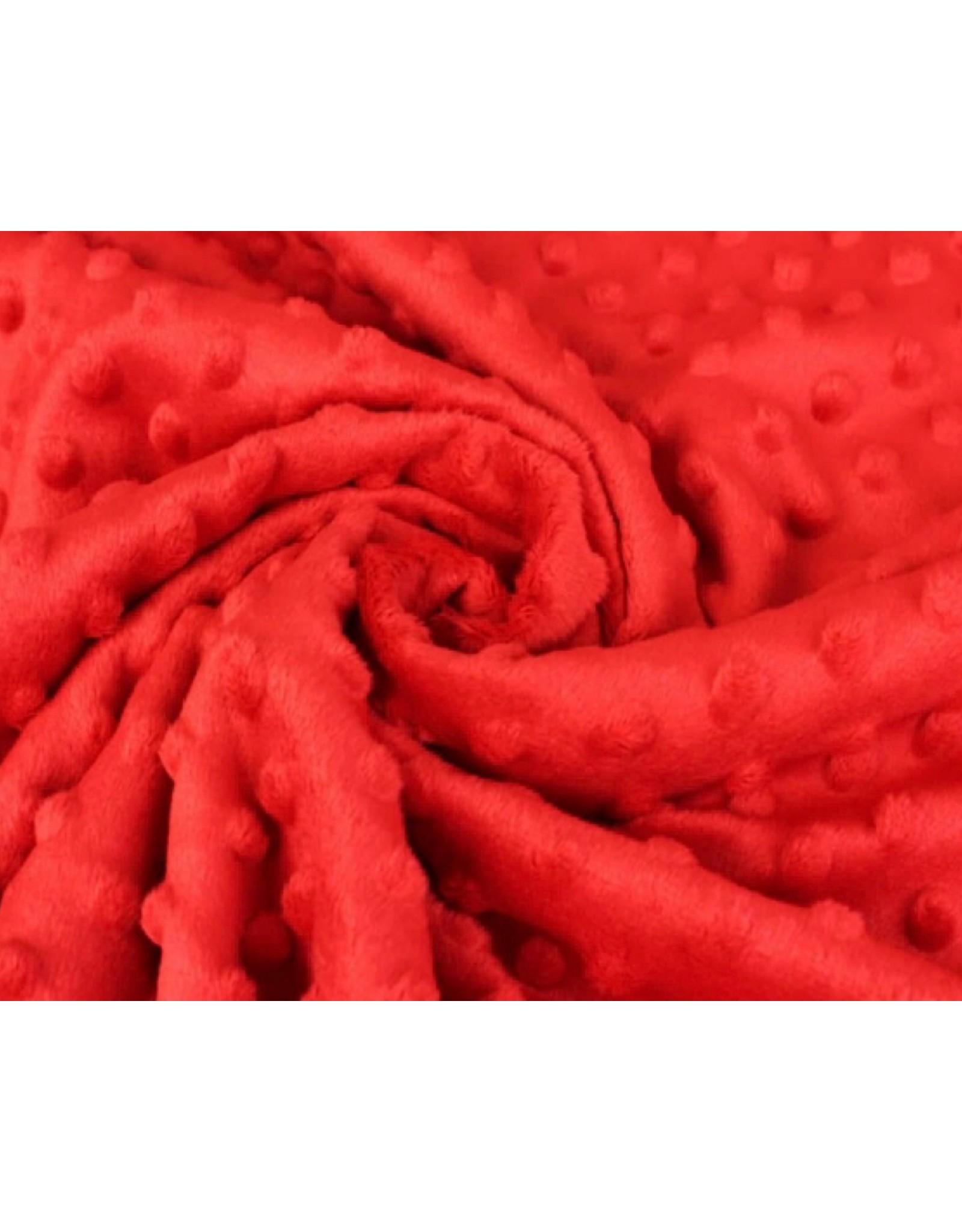 Minky Fleece - Rot