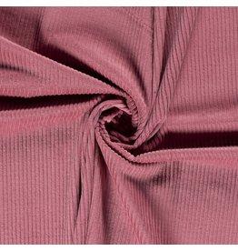 Katoen Corduroy - Oud roze