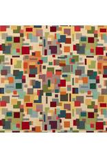 B&B Fabrics Gobelin Premium - Artistiek blokjes beige
