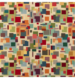 B&B Fabrics Gobelin Premium  - Artistic blocks beige