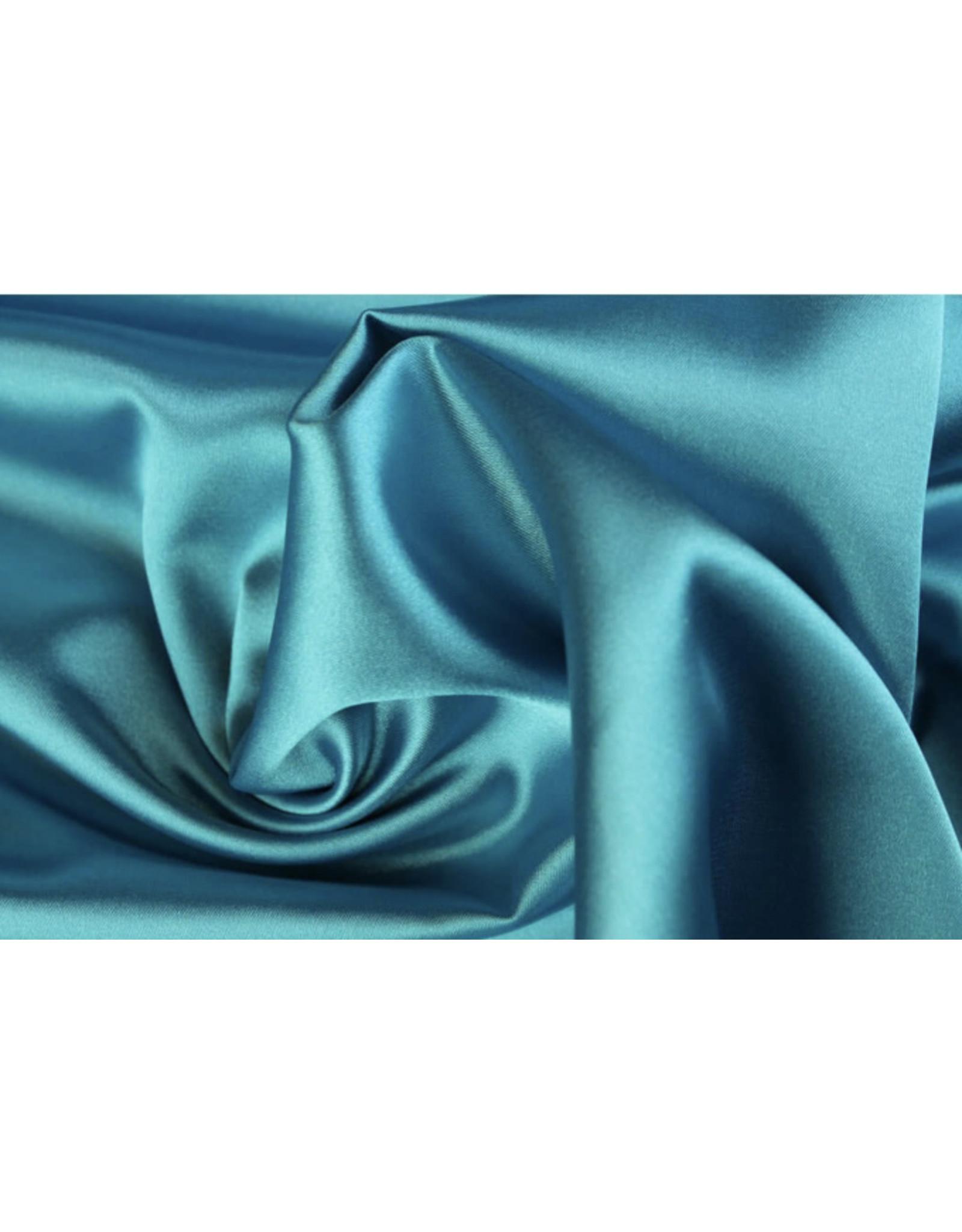 Silk Satijn stretch - Aqua
